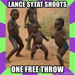 african kids dancing - LANCE SYTAT SHOOTS ONE FREE THROW