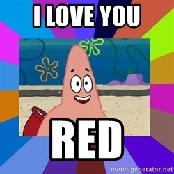 i love you - I love you  Red