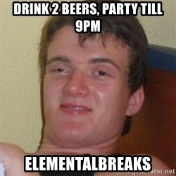 Really highguy - DRINK 2 BEERS, PARTY TILL 9PM ELEMENTALBREAKS