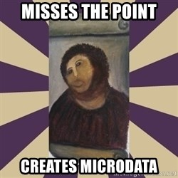 Retouched Ecce Homo - Misses the point creates Microdata