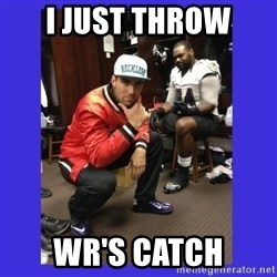 PAY FLACCO - I just throw WR's catch