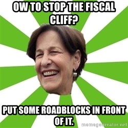 susana villaran - ow to stop the fiscal cliff? put some roadblocks in front of it.