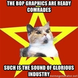 Lenin Cat Red - The bop graphics are ready comrades such is the sound of glorious industry