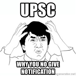 wtf jackie chan lol - UPSC Why you no give notification