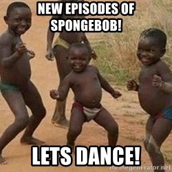 african children dancing - new episodes of spongebob! lets dance!