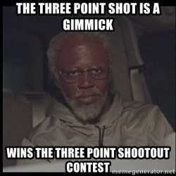 Uncle Drew - THe three point shot is a gimmick wins the three point shootout  contest