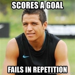 alexis sanchez  - SCORES A GOAL FAILS IN REPETITION