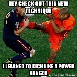Netherlands - hey check out this new TECHNIQUE  I LEARNED TO KICK LIKE A POWER RANGER