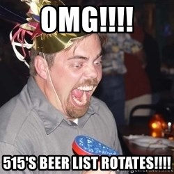 OMG it spins - OMG!!!! 515's BEER LIST ROTATES!!!!