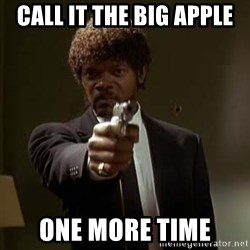 Jules Pulp Fiction - call it the big apple one more time