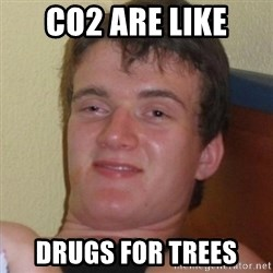 Really highguy - CO2 ARE LIKE DRUGS FOR TREES
