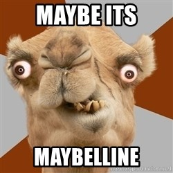 Crazy Camel lol - MAYBE ITS MAYBELLINE