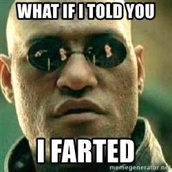 What If I Told You - what if i told you i farted