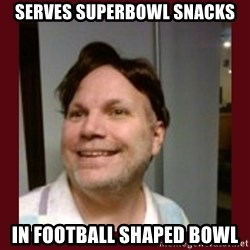Free Speech Whatley - Serves superbowl snacks In football shaped bowl