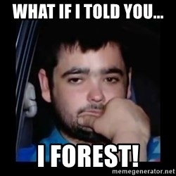 just waiting for a mate - what if i told you... i forest!