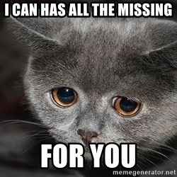 Sadcat - I can has all the missing for you