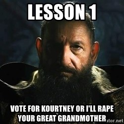 The Mandarin - lesson 1 vote for kourtney or i'll rape your great grandmother