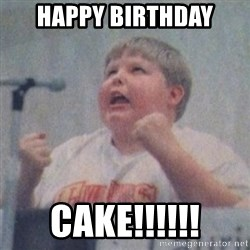 The Fotographing Fat Kid  - Happy Birthday cake!!!!!!