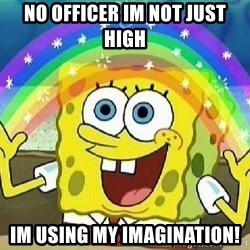 Imagination - no officer im not just high im using my imagination!