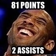 Kobe Bryant - 81 points 2 assists