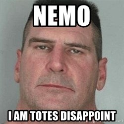 i am disappoint - NEMO I AM TOTES DISAPPOINT