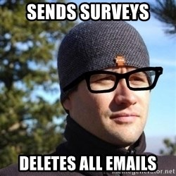 Hipster Reagan - Sends Surveys Deletes All Emails