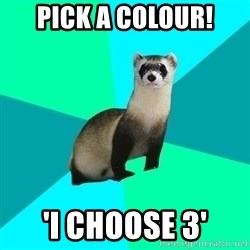Obvious Question Ferret - Pick a colour! 'I choose 3'