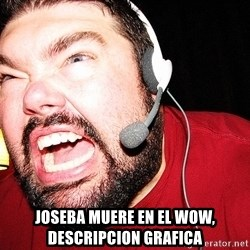 Angry Gamer -  joseba muere en el wow, descripcion grafica