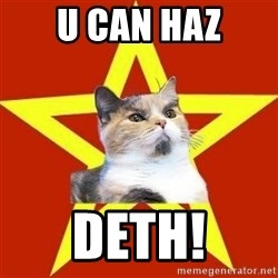 Lenin Cat Red - u can haz deth!