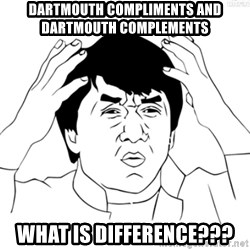 Cartoon Jackie Chan - dartmouth compliments and dartmouth complements what is difference???