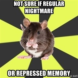 Survivor Rat - Not sure if regular nightmare or repressed memory