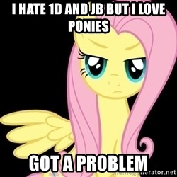 Fluttershy  - I HATE 1D and Jb but i love ponies got a problem