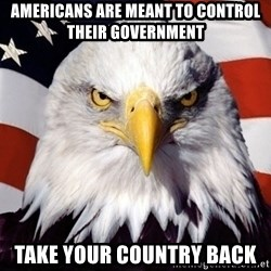 American Pride Eagle - americans are meant to control their government take your country back