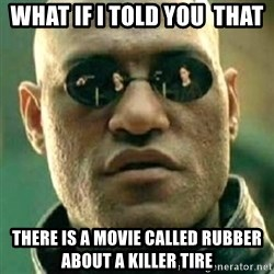 what if i told you matri - What if i told you  thAt there is a movie called rubber about a killer tire
