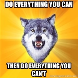 Courage Wolf - Do everything you can then do everything you can't