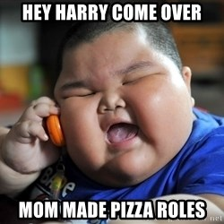 Fat Asian Kid - hey harry come over mom made pizza roles