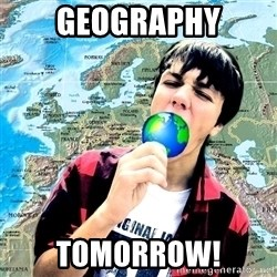 CRAZY_GEOGRAPHY - GEOGRAPHY TOMORROW!