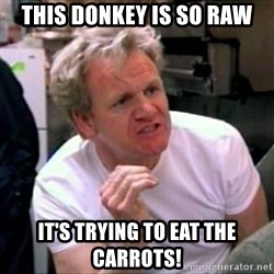 Gordon Ramsay - This donkey is so raw it's trying to eat the carrots!