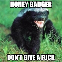 Honey Badger Actual - honey badger don't give a fuck