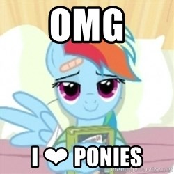 Cute Book Holding Rainbow Dash - OMG I ❤ PONIES