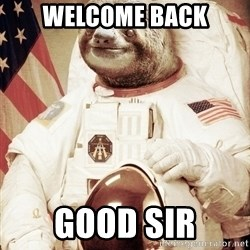 space sloth - Welcome Back Good SiR