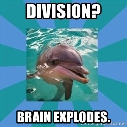 Dyscalculic Dolphin - DIVISION? Brain explodes.