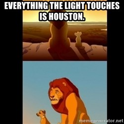 Lion King Shadowy Place - Everything the light touches is Houston.