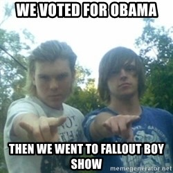 god of punk rock - we voted for obama then we went to fallout boy show