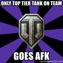 World of Tanks - ONLY TOP TIER TANK ON TEAM goes afk