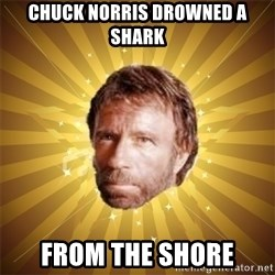 Chuck Norris Advice - chuck norris drowned a shark from the shore