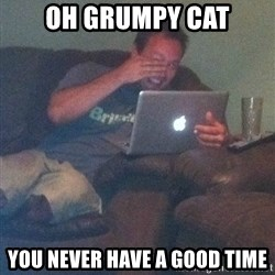 Meme Dad - Oh grumpy cat you never have a good time