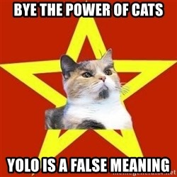 Lenin Cat Red - BYE THE POWER OF CATS YOLO IS A FALSE MEANING