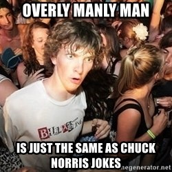Sudden Realization Ralph - overly manly man is just the same as chuck norris jokes