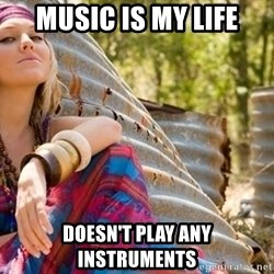 Young Hippy - music is my life doesn't play any instruments